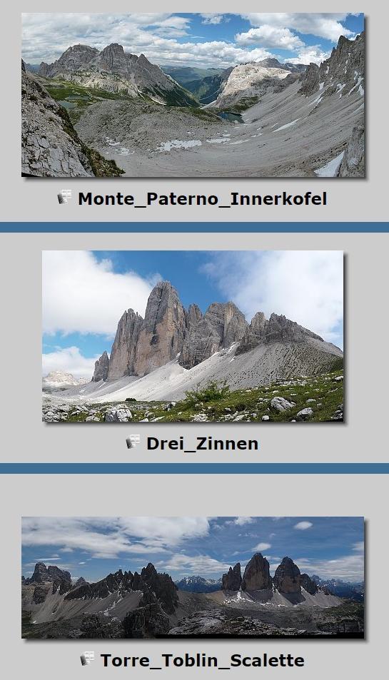 Panoramy - SUDtiROL - Hochpustertal - Alta Pusteria - Via Ferrata - 2011